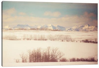 Winter Farmland Canvas Art Print