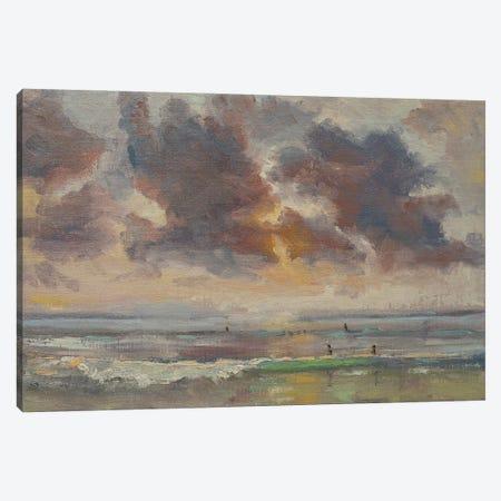 Pacific Beach Sunset Canvas Print #RMU158} by Roberta Murray Canvas Print