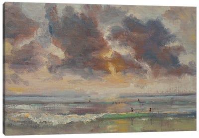 Pacific Beach Sunset Canvas Art Print