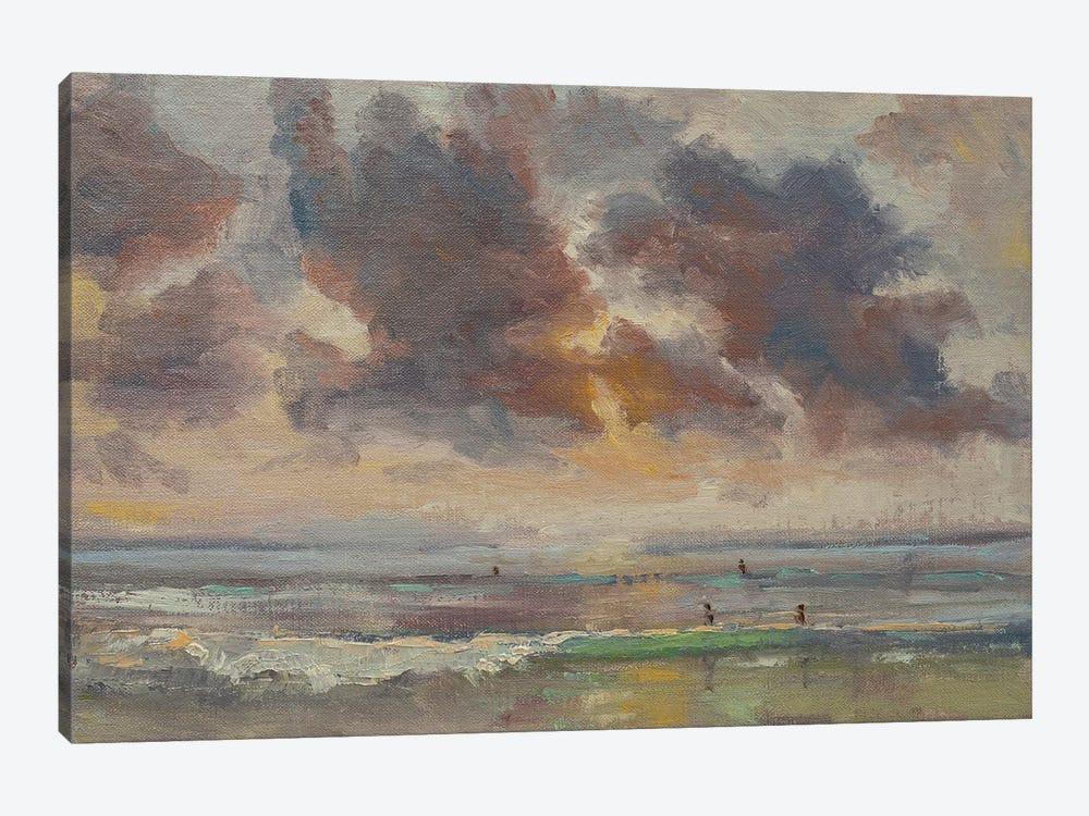 Pacific Beach Sunset by Roberta Murray 1-piece Canvas Wall Art