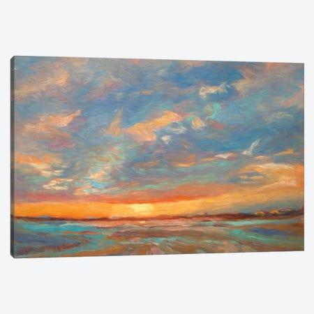 Short Grass Sunrise Canvas Print #RMU161} by Roberta Murray Canvas Wall Art