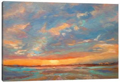 Short Grass Sunrise Canvas Art Print