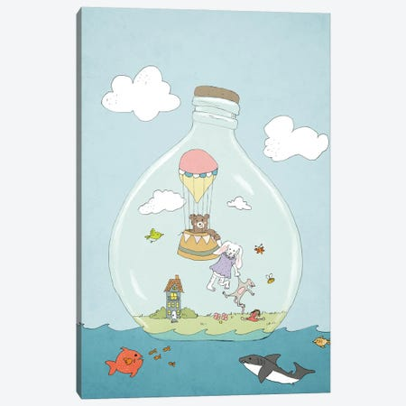 Message In A Bottle Canvas Print #RMU163} by Roberta Murray Canvas Artwork