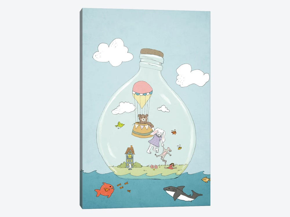Message In A Bottle by Roberta Murray 1-piece Canvas Art
