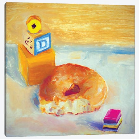 D Is For Donut Canvas Print #RMU166} by Roberta Murray Canvas Art Print