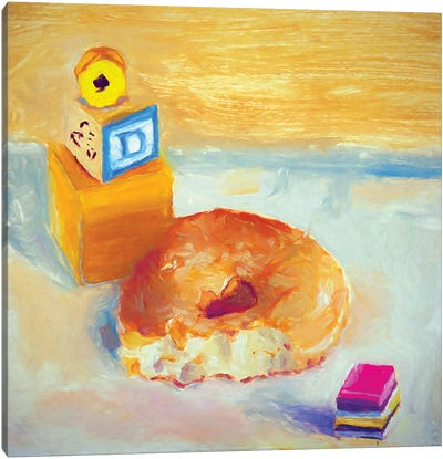 D Is For Donut Canvas Art Print