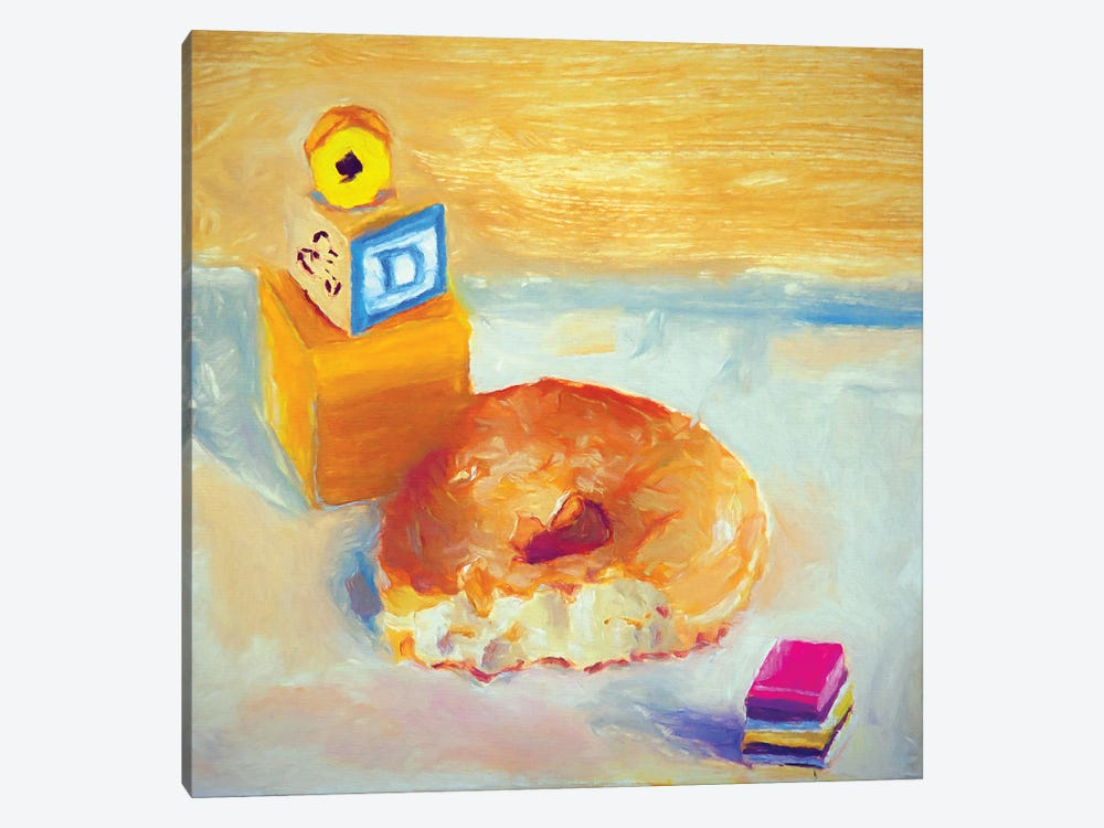 D Is For Donut 1-piece Canvas Print