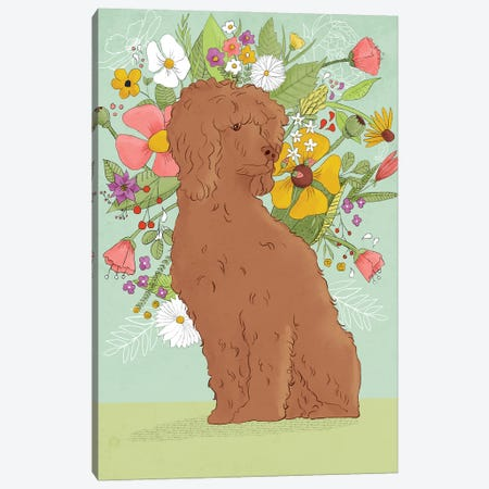Florence The Poodle Canvas Print #RMU167} by Roberta Murray Canvas Art Print