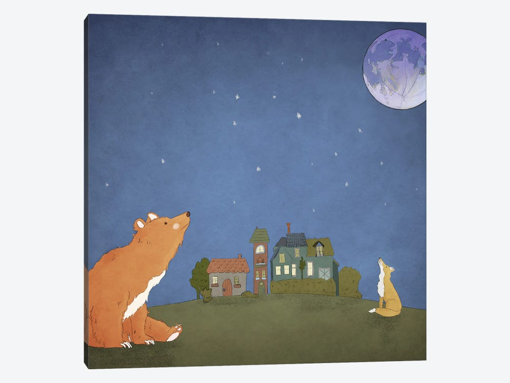 One Moon by Roberta Murray 1-piece Canvas Wall Art