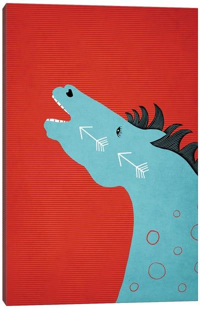 The Blue Stallion Canvas Art Print