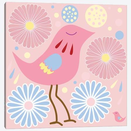 Hens And Chicks Canvas Print #RMU176} by Roberta Murray Canvas Wall Art