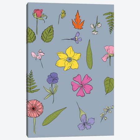 Pressed Flowers Canvas Print #RMU179} by Roberta Murray Canvas Art Print