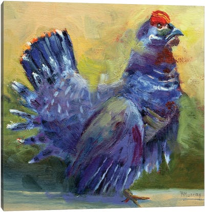 Little Grouse On The Prairie Canvas Art Print
