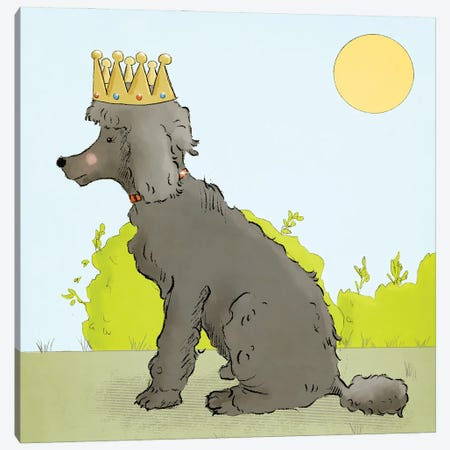 Queen Be a Poodle Canvas Print #RMU18} by Roberta Murray Canvas Wall Art