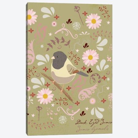 Bird In The Garden Canvas Print #RMU195} by Roberta Murray Canvas Wall Art
