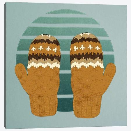 Bernie's Woollen Mittens Canvas Print #RMU197} by Roberta Murray Canvas Wall Art
