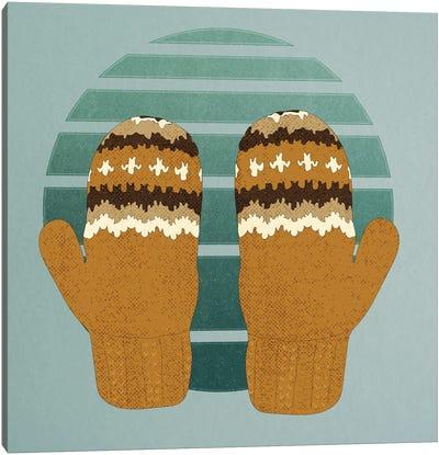 Bernie's Woollen Mittens Canvas Art Print