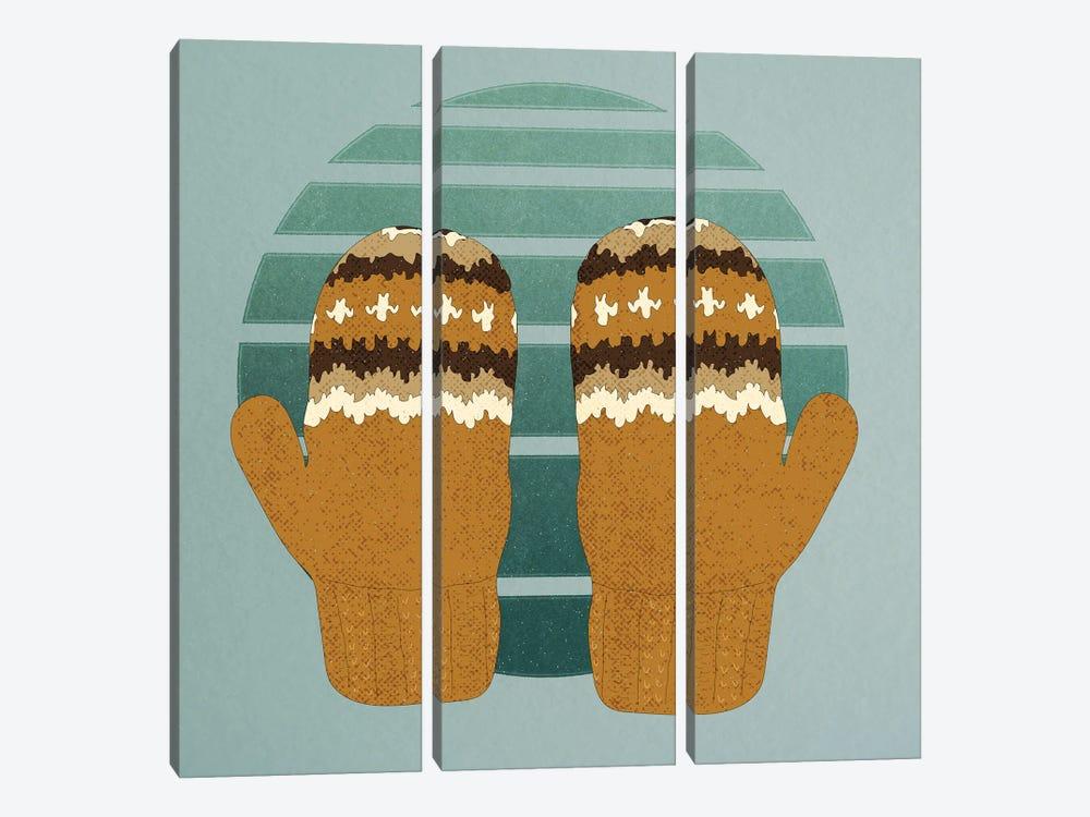 Bernie's Woollen Mittens by Roberta Murray 3-piece Art Print