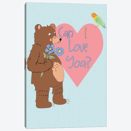 Love Bear II Canvas Print #RMU200} by Roberta Murray Art Print