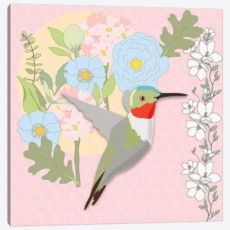 Hummingbirds Garden Canvas Print #RMU203} by Roberta Murray Canvas Print