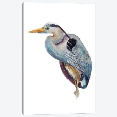 Heron Poser Canvas Print #RMU224} by Roberta Murray Canvas Art