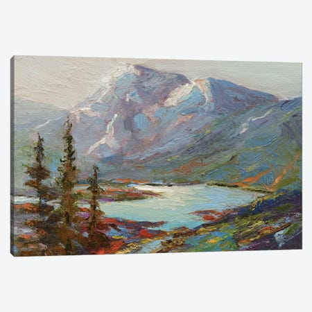 Abraham Lake Canvas Print #RMU229} by Roberta Murray Art Print