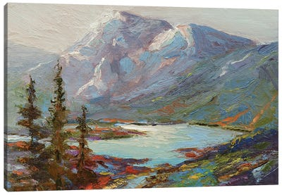 Abraham Lake Canvas Art Print