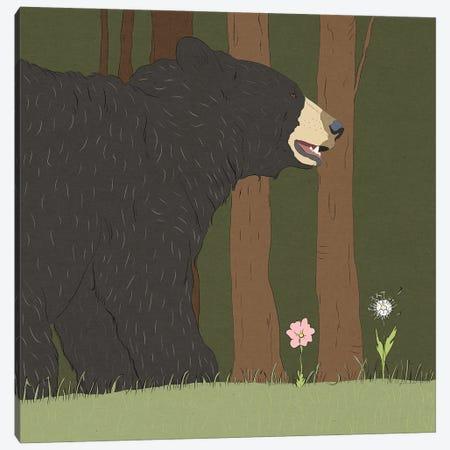 Stressed Bear Canvas Print #RMU22} by Roberta Murray Art Print
