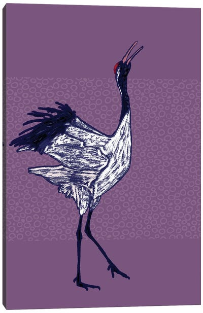 Red Crowned Crane Canvas Art Print