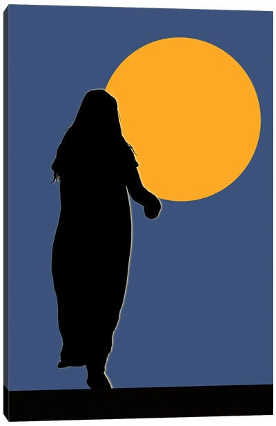 Lady Of The Moon Canvas Art Print
