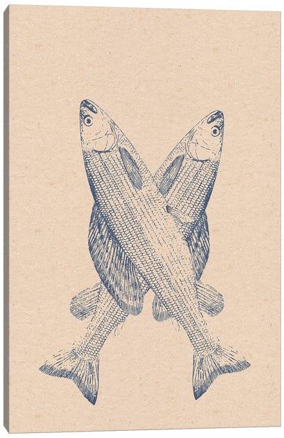 Arctic Graylings Retro Print Canvas Art Print