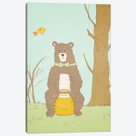Bear Bait Canvas Print #RMU3} by Roberta Murray Canvas Art