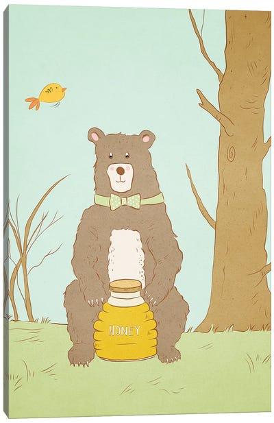 Bear Bait Canvas Art Print
