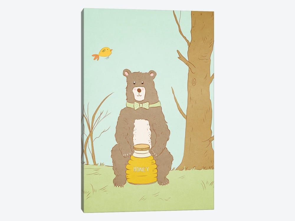 Bear Bait by Roberta Murray 1-piece Canvas Wall Art