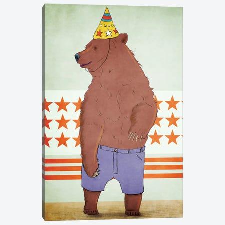 Birthday Bear Canvas Print #RMU4} by Roberta Murray Canvas Art Print
