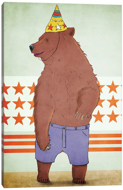 Birthday Bear Canvas Art Print