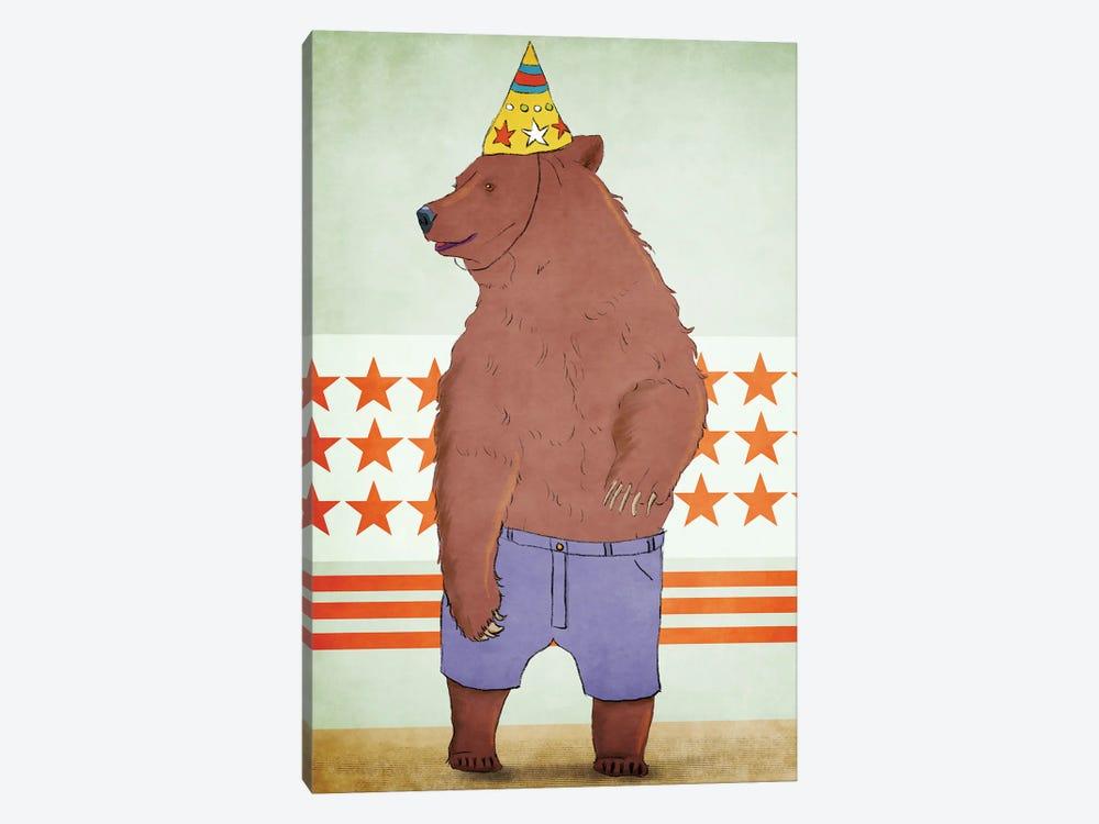 Birthday Bear by Roberta Murray 1-piece Canvas Art Print