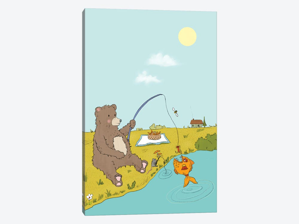 Gone Fishing by Roberta Murray 1-piece Canvas Wall Art