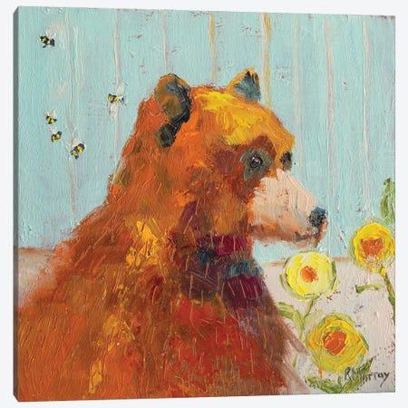 Buzz Off Canvas Print #RMU81} by Roberta Murray Art Print