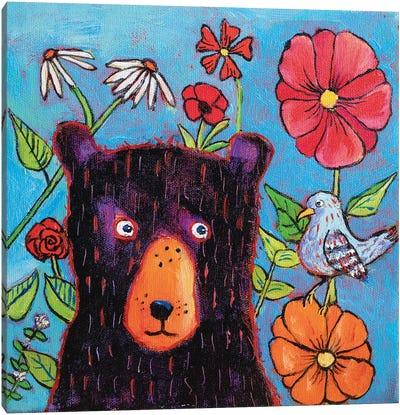 Admiring The Wildflowers Canvas Art Print