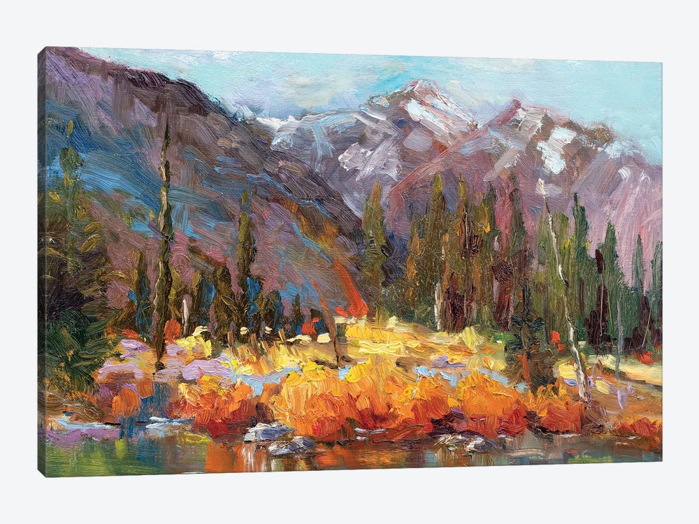 Forget Me Not Pond by Roberta Murray 1-piece Canvas Artwork