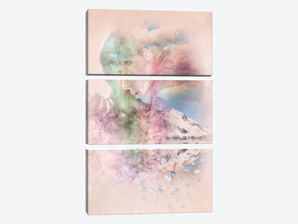 Smoky Quartz by 5by5collective 3-piece Canvas Art Print
