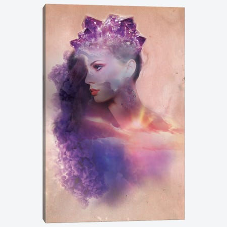 Violet Rays Canvas Print #RMW12} by 5by5collective Canvas Artwork