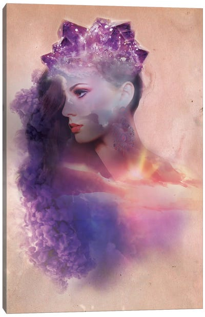 Violet Rays Canvas Art Print