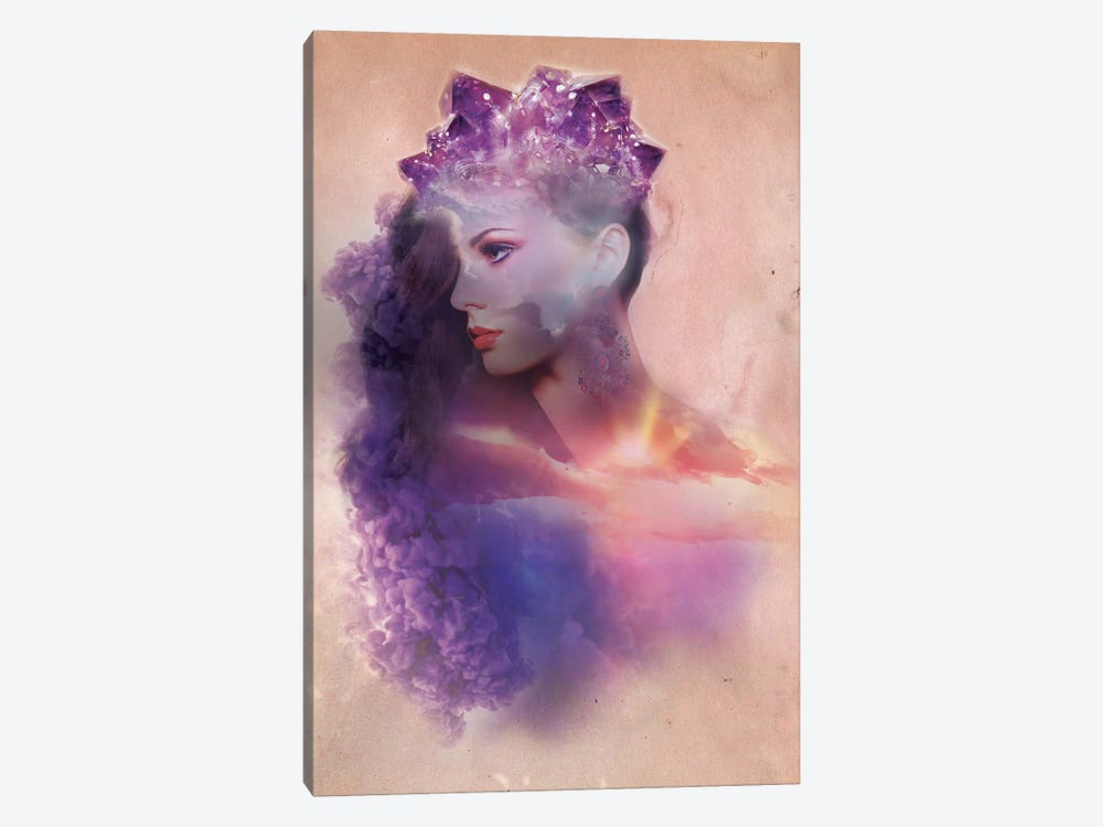 Violet Rays by 5by5collective 1-piece Canvas Print