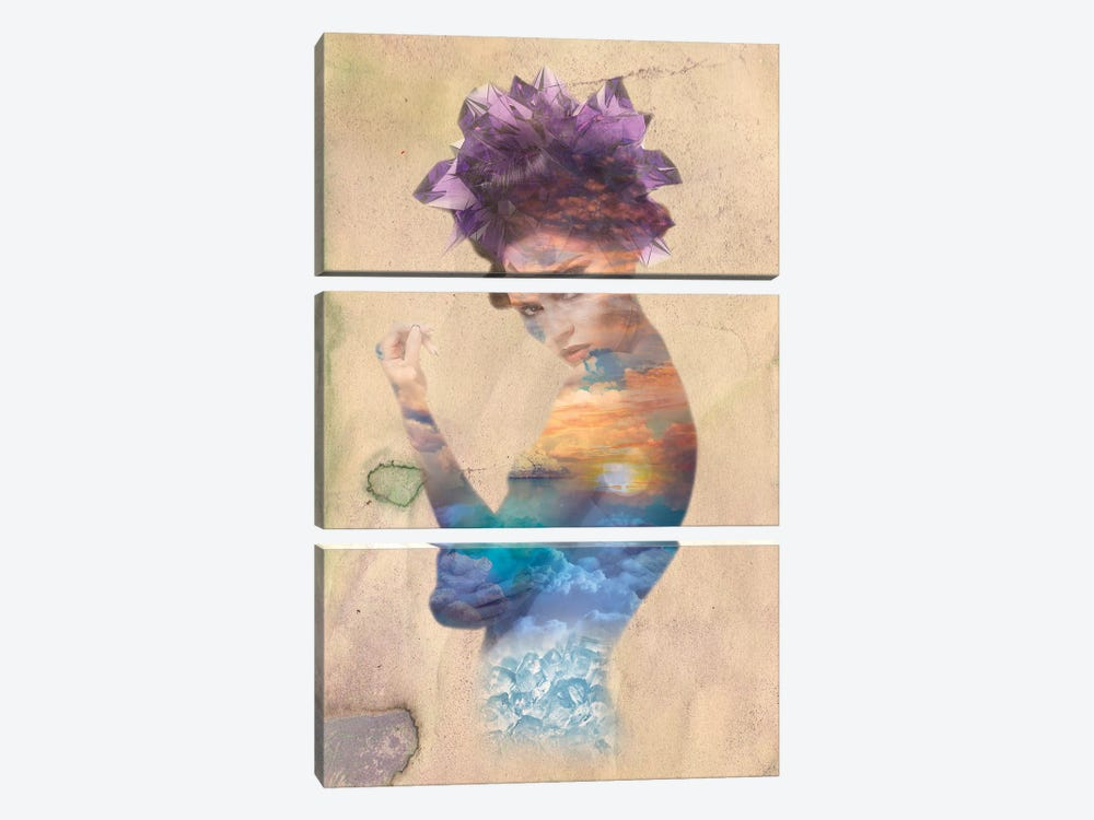 Amethyst Strata by 5by5collective 3-piece Canvas Artwork