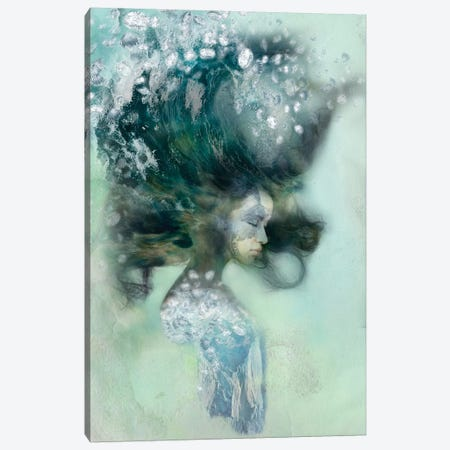 Emerald Surf Canvas Print #RMW4} by 5by5collective Canvas Art Print