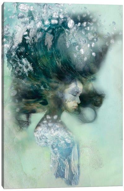 Emerald Surf Canvas Print #RMW4