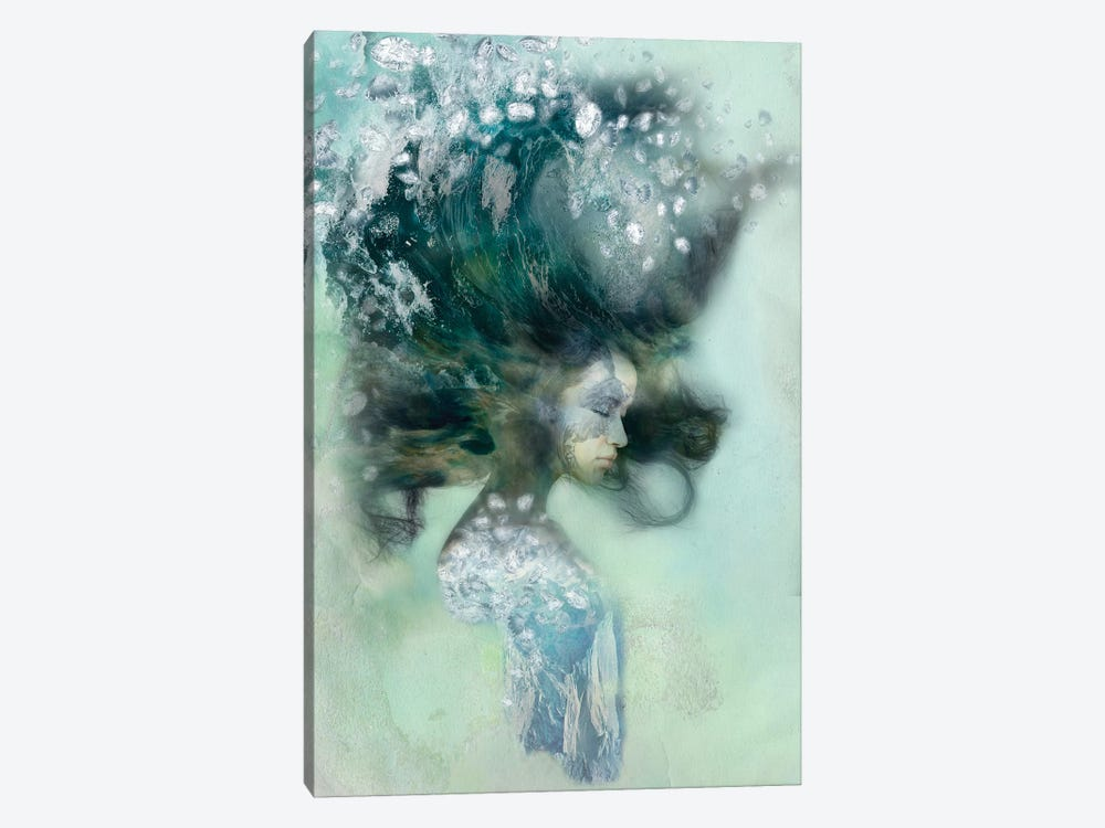Emerald Surf by 5by5collective 1-piece Canvas Art Print