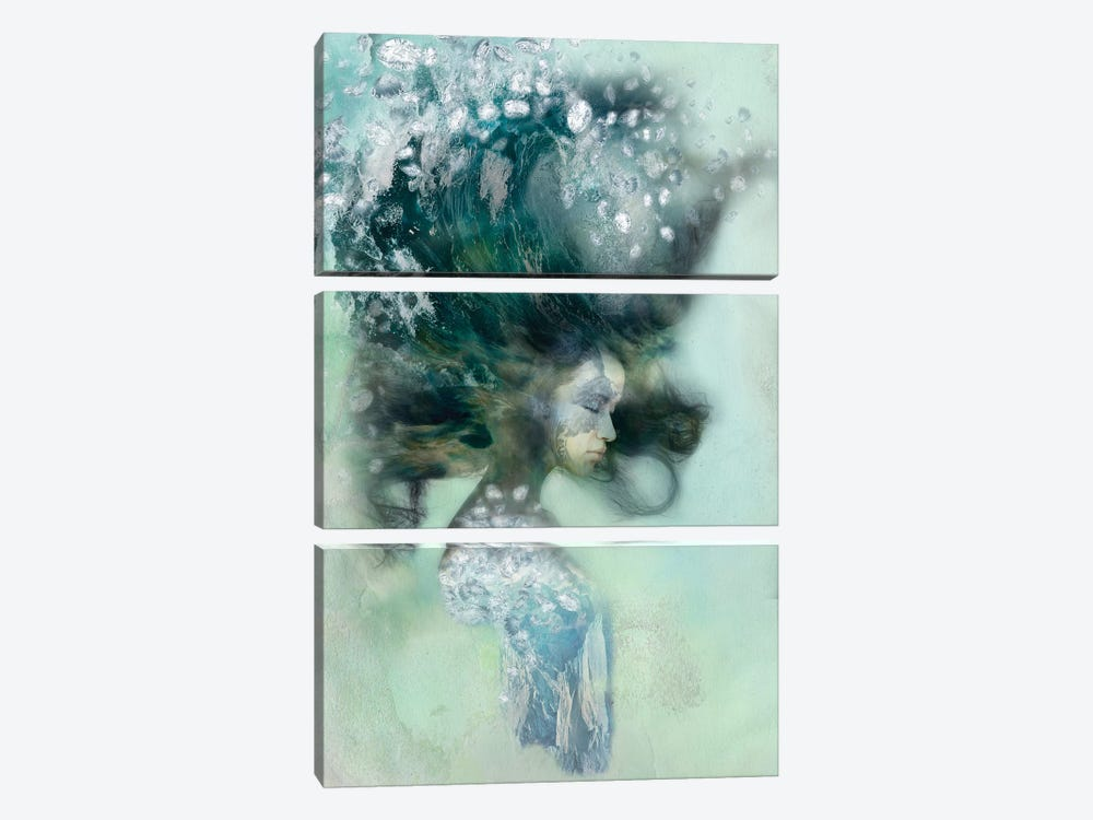 Emerald Surf by 5by5collective 3-piece Art Print